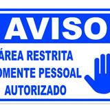 Placa de sinalização EPI