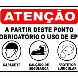Placa de sinalização EPI - 4